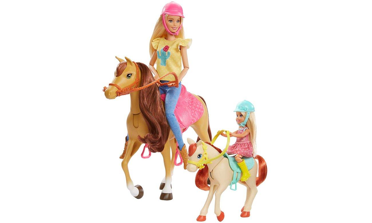 lalka barbie z koniem i akcesoriami