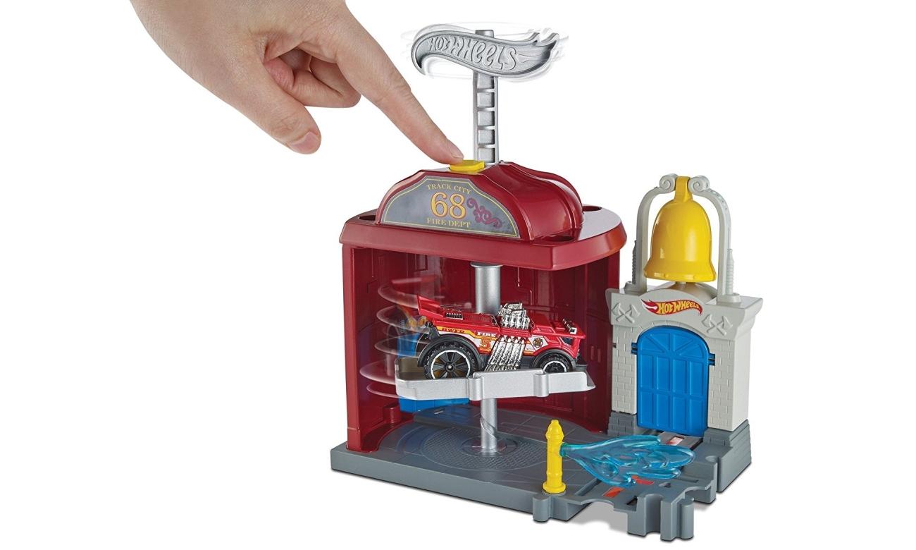 Mattel Hot Wheels City Mały Zestaw Odjazdowa remiza FRH28 FRH29