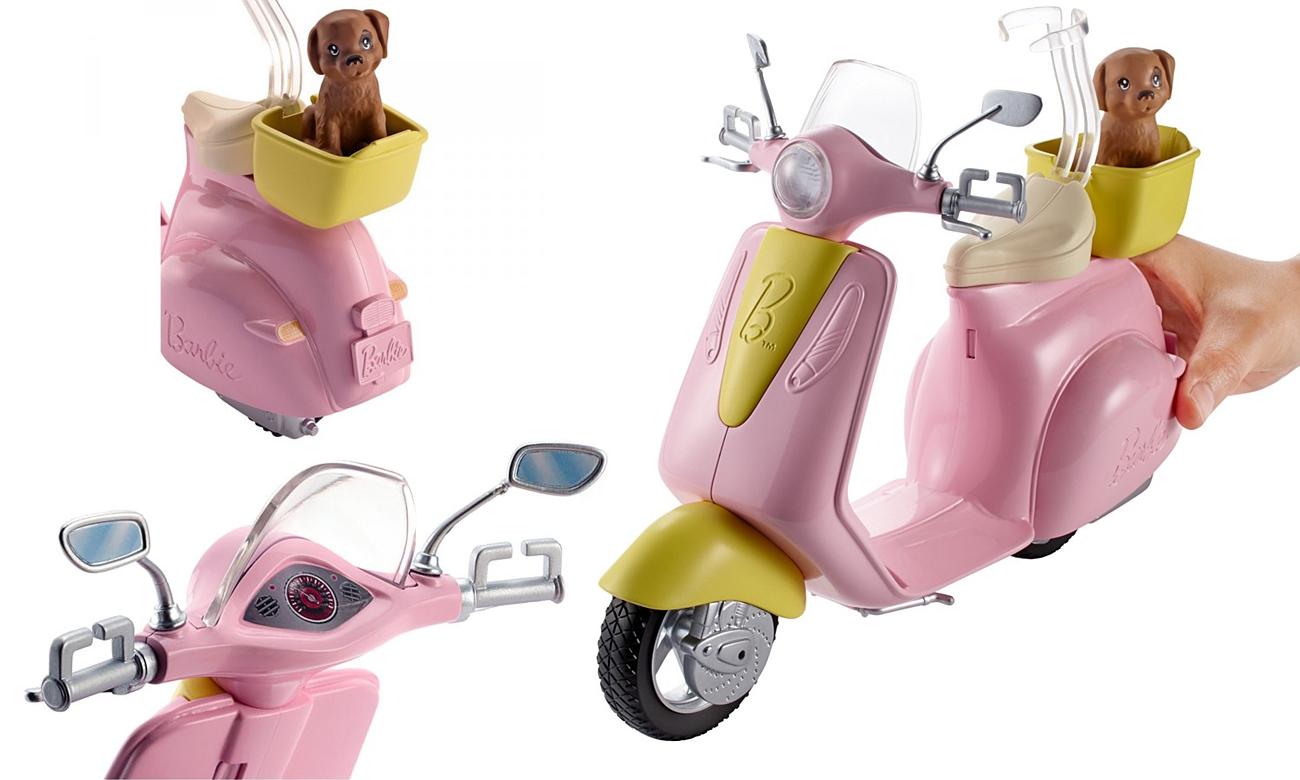 Mattel Barbie Skuter ze szczeniaczkiem