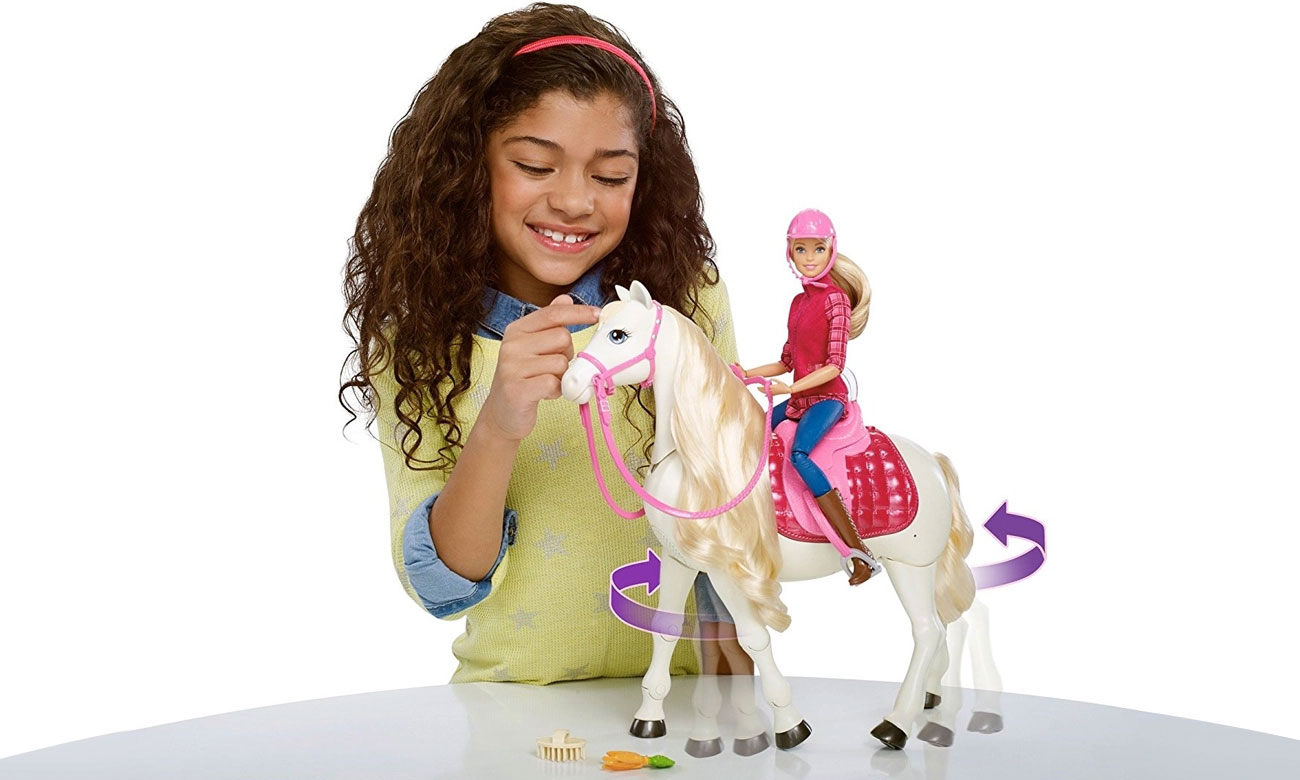 Mattel Barbie Interaktywny koń i lalka