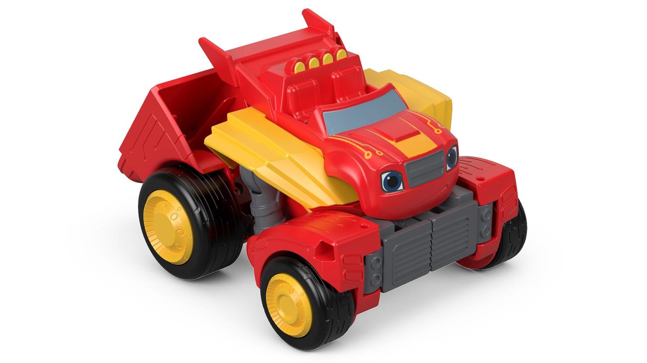 Przemiana z pojazdu w robota Mattel Blaze