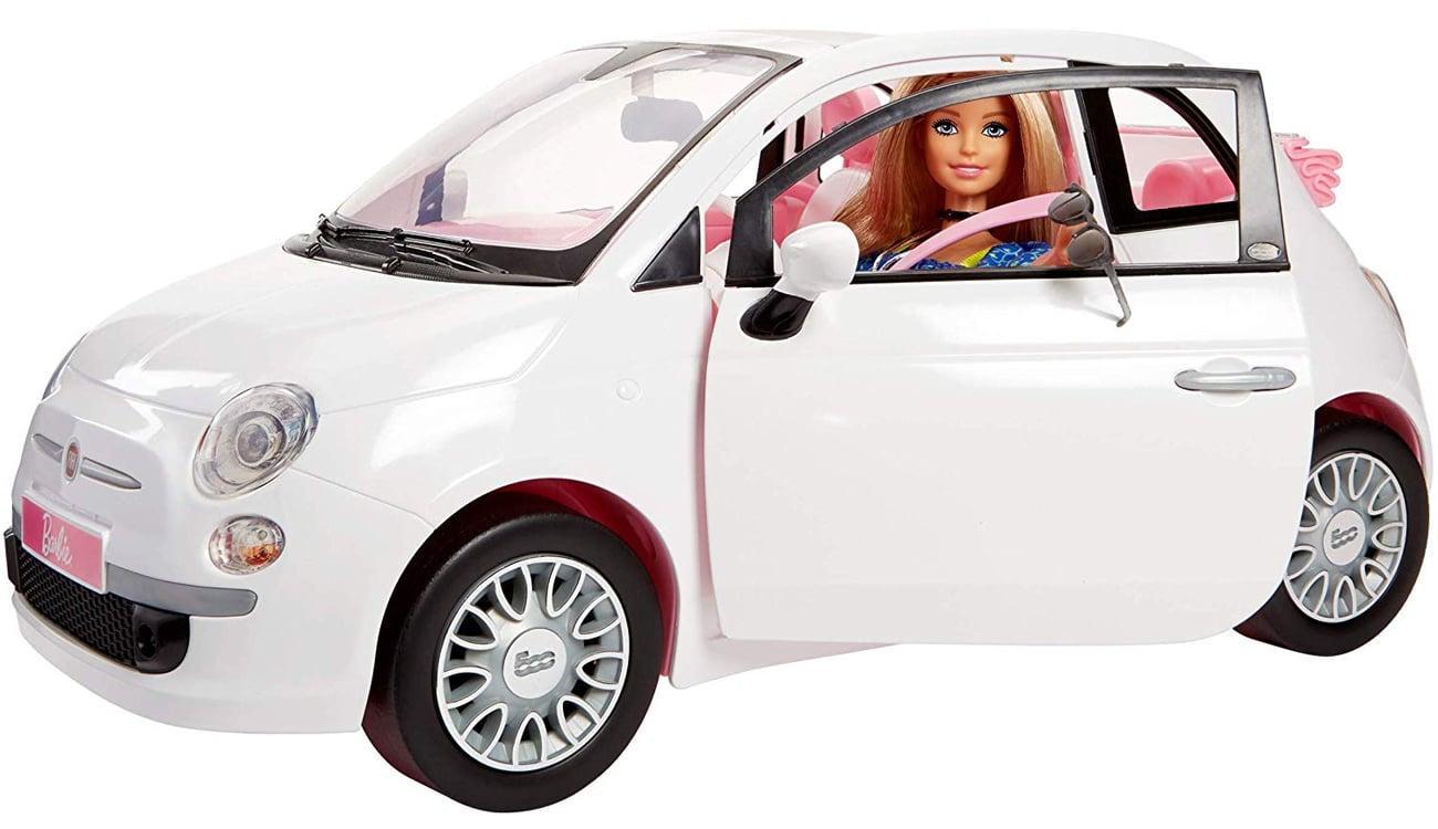 Mattel Barbie Lalka i Auto Fiat 500