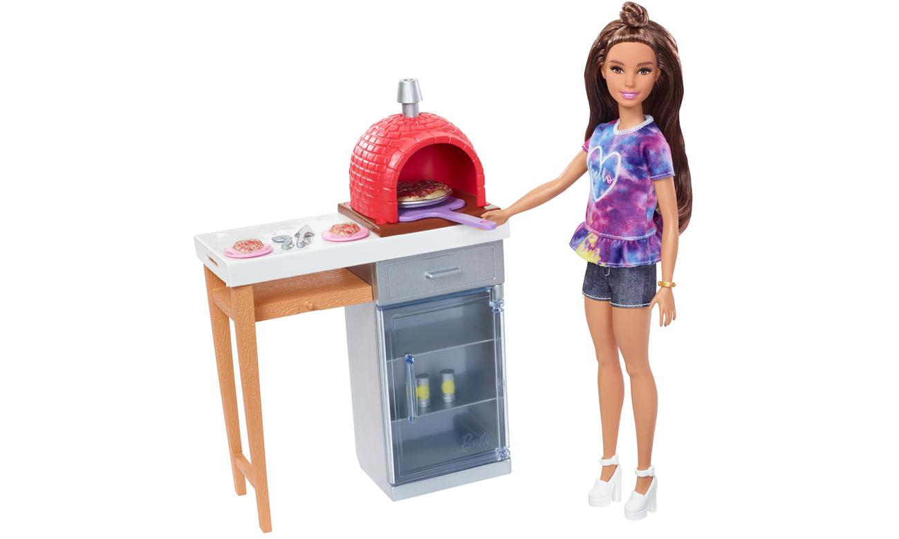 Mattel Barbie Mebelki ogrodowe Zestaw do pizzy