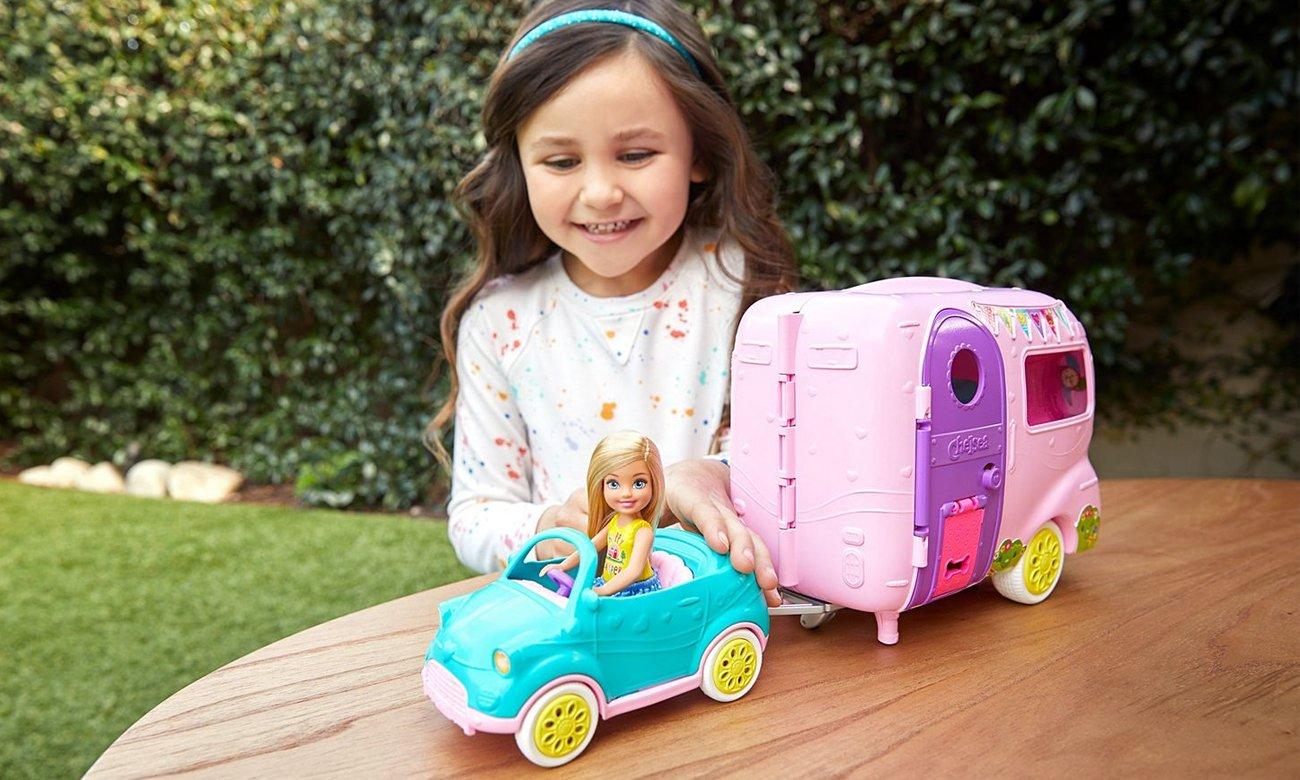 Mattel Barbie Przyczepa Kempingowa Chelsea + Lalka
