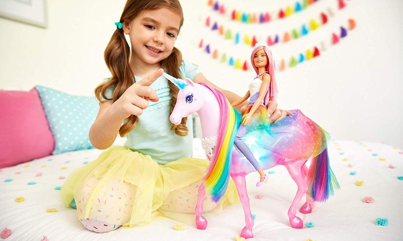 Mattel Barbie Jednorożec Magia Świateł