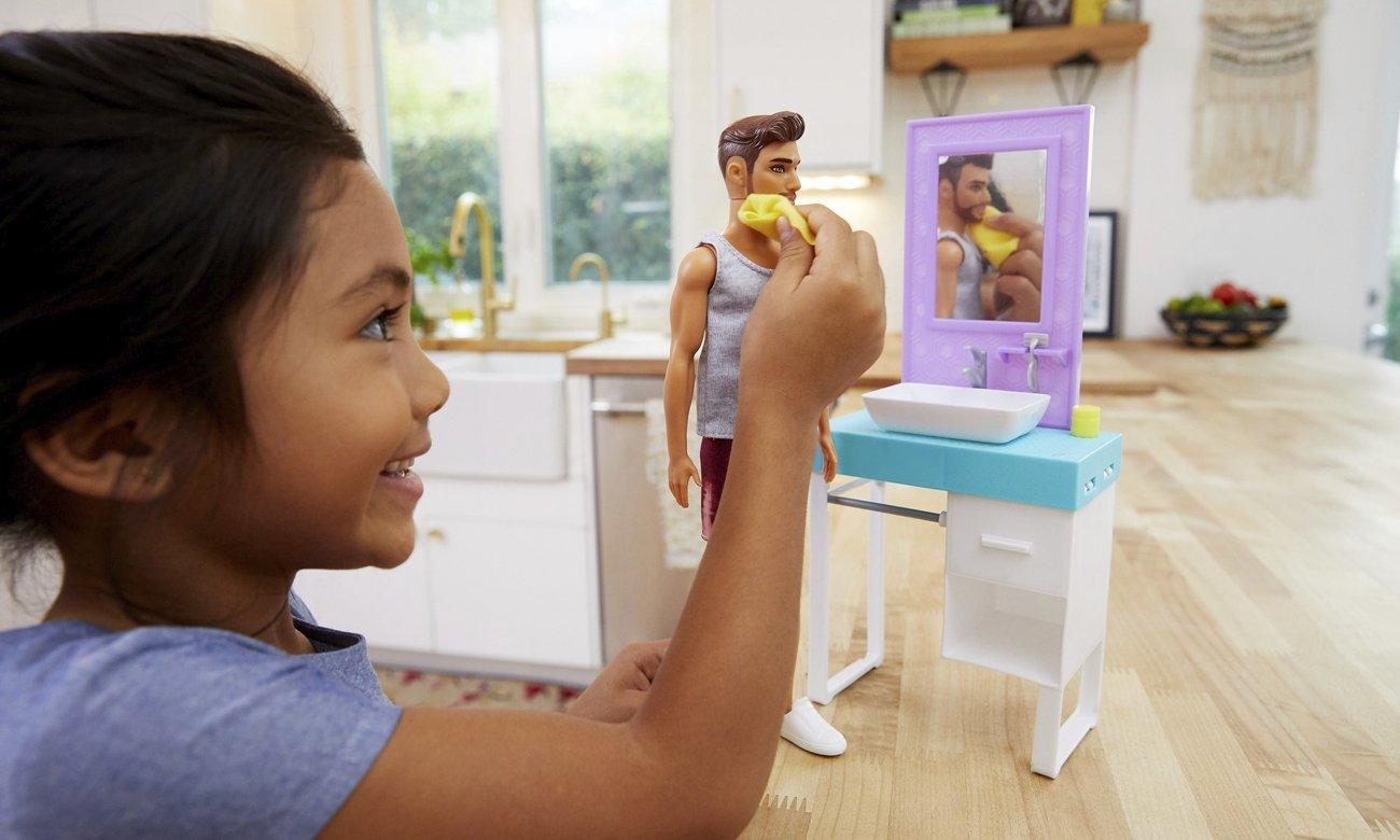 Mattel Barbie Zestaw Ken zabawa w golenie