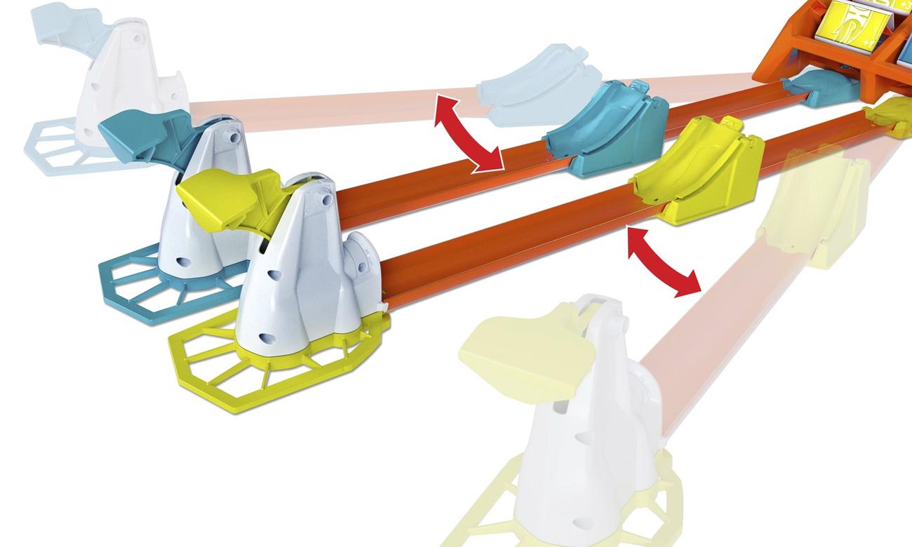 zestaw hot wheels track builders