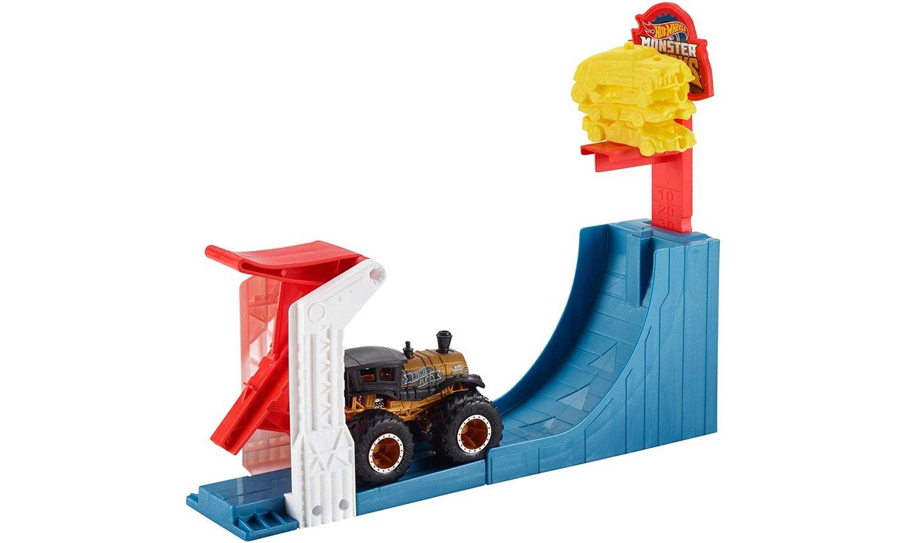 Mattel Hot Wheels Monster Trucks Kaskaderski skok Zestaw