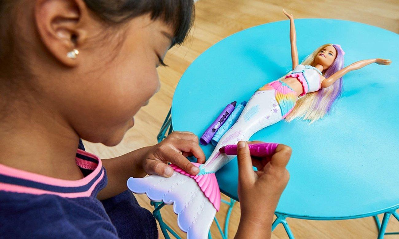 Mattel Barbie Crayola Syrenka kolorowa magia