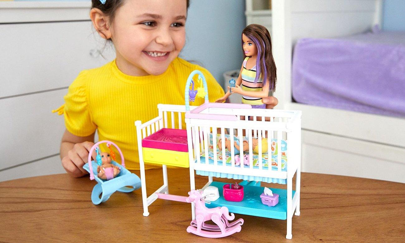 Mattel Barbie Skipper Zestaw Opieka Nad Maluszkiem + Lalka