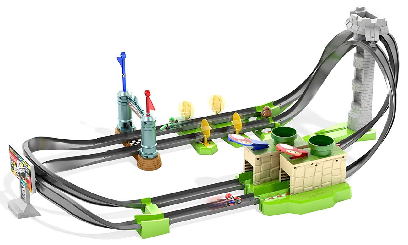 MATTEL Hot Wheels Mario Kart Mario Circuit Track Set