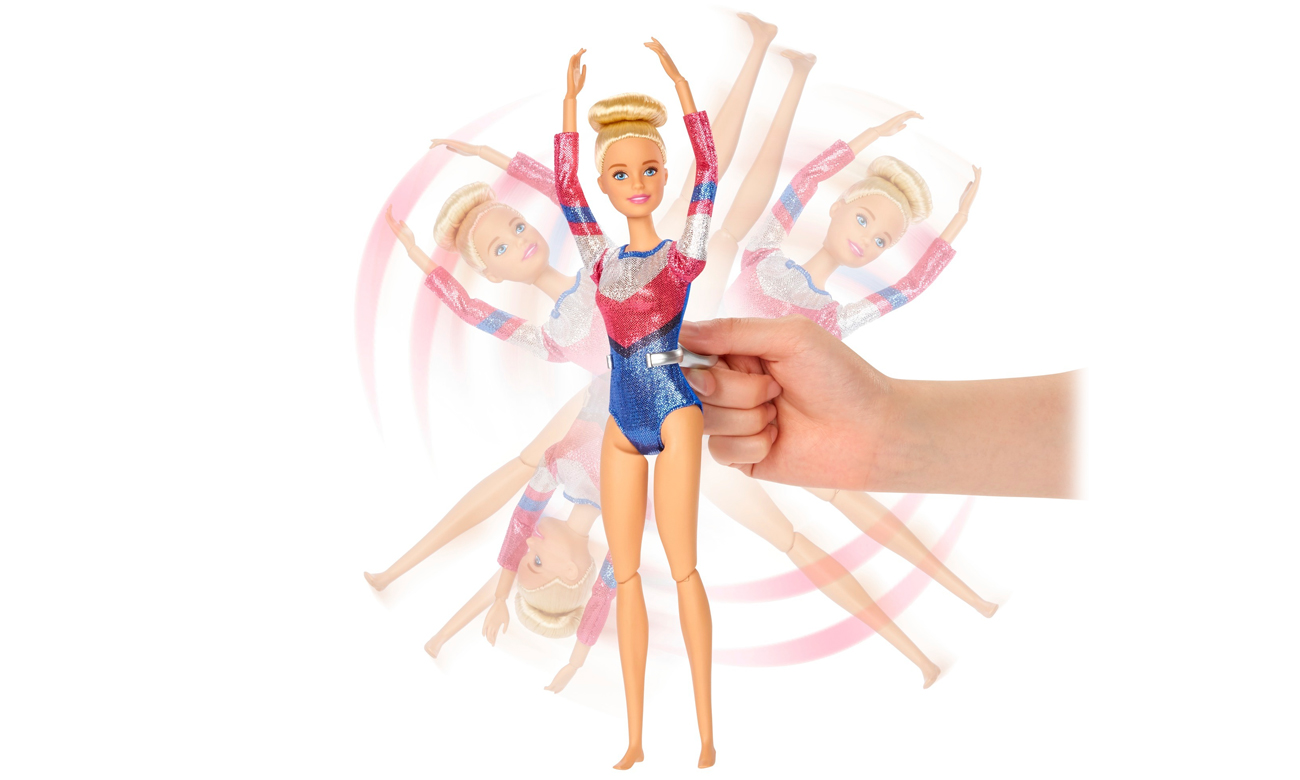 lalka barbie gimnastyczka