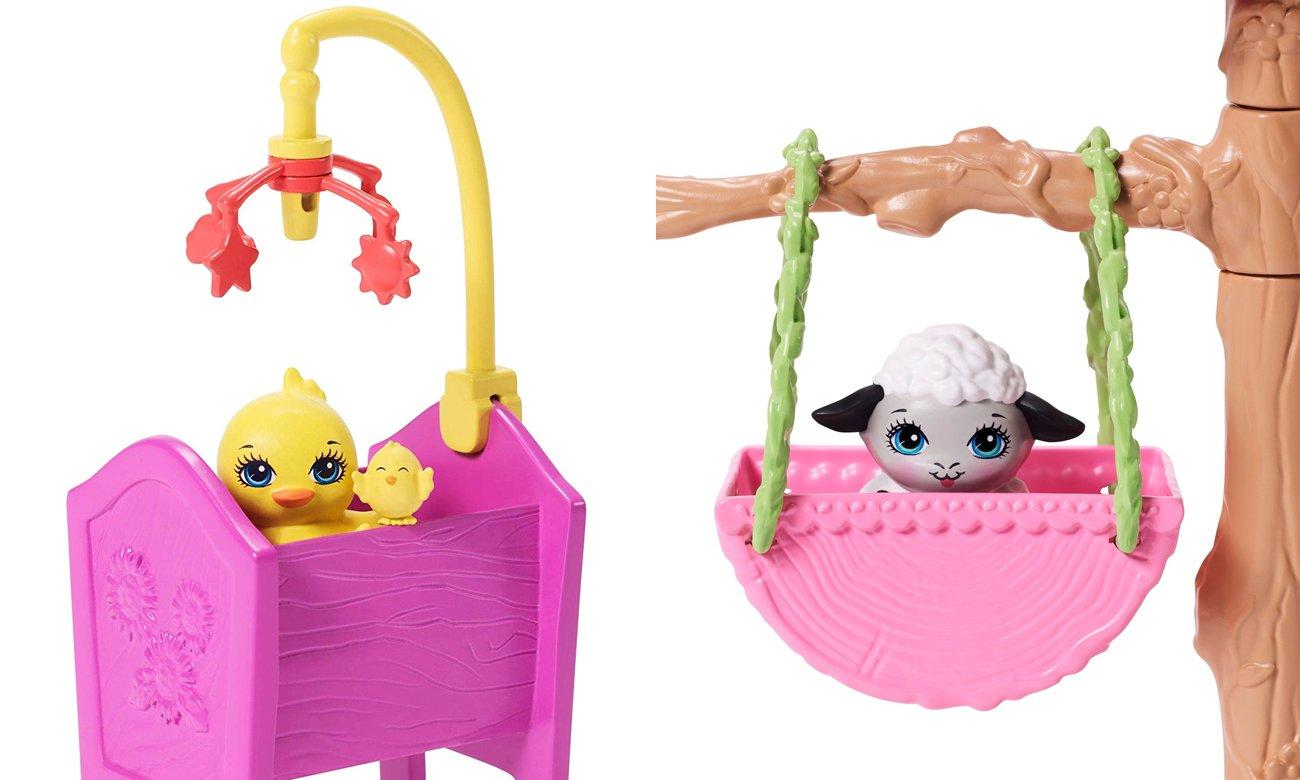 enchantimals zestaw z lalką i 4 zwierzątkami
