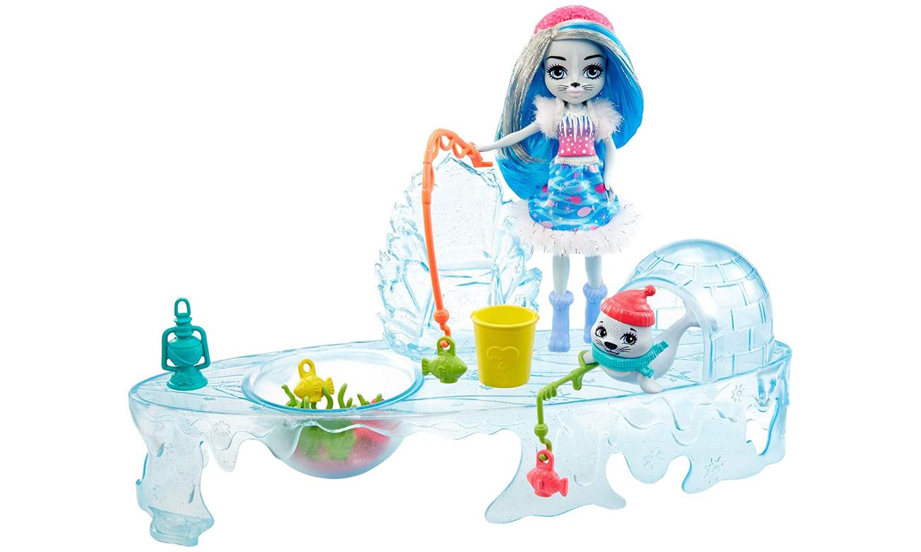Mattel Enchantimals Zimowe wędkowanie Zestaw