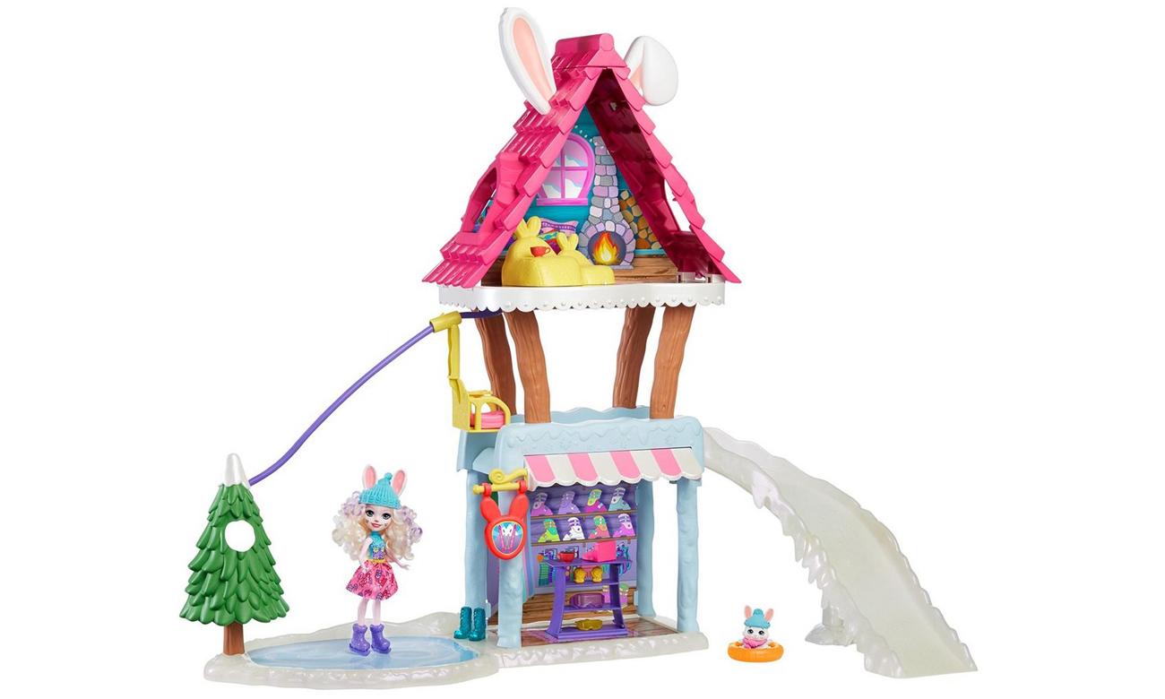 Mattel Enchantimals Zimowa chatka Zestaw