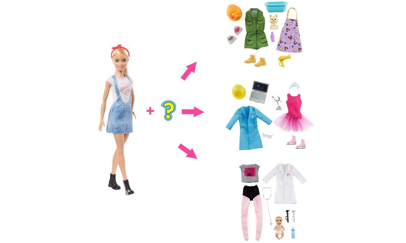 lalka barbie z ubrankami