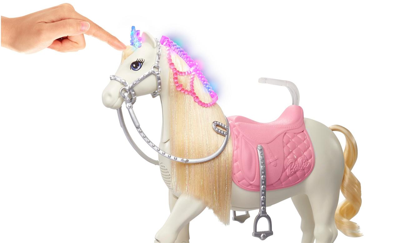 lalka barbie księżniczka z koniem