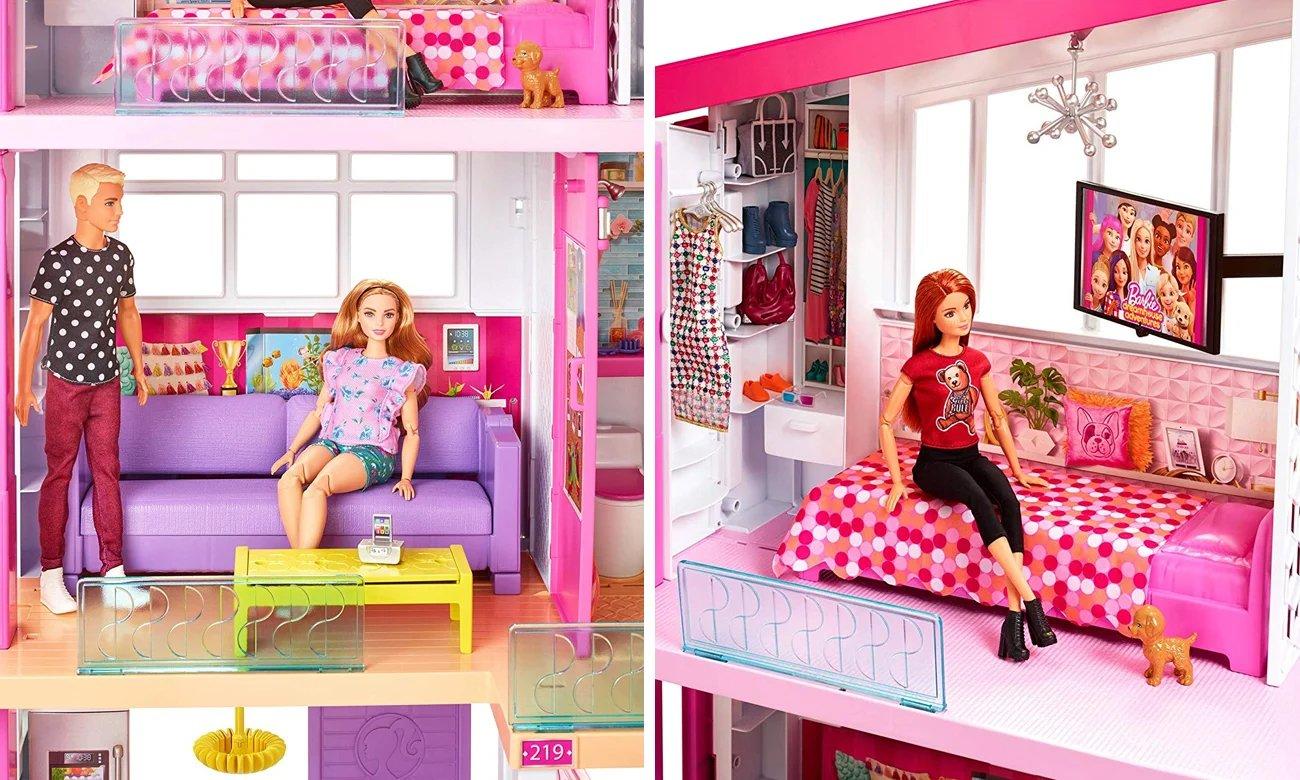 duży domek dla lalek barbie