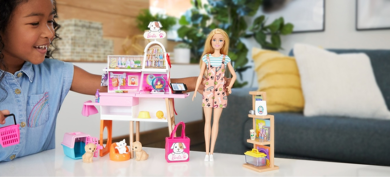 Mattel Barbie Sklepik - salon dla zwierzaków