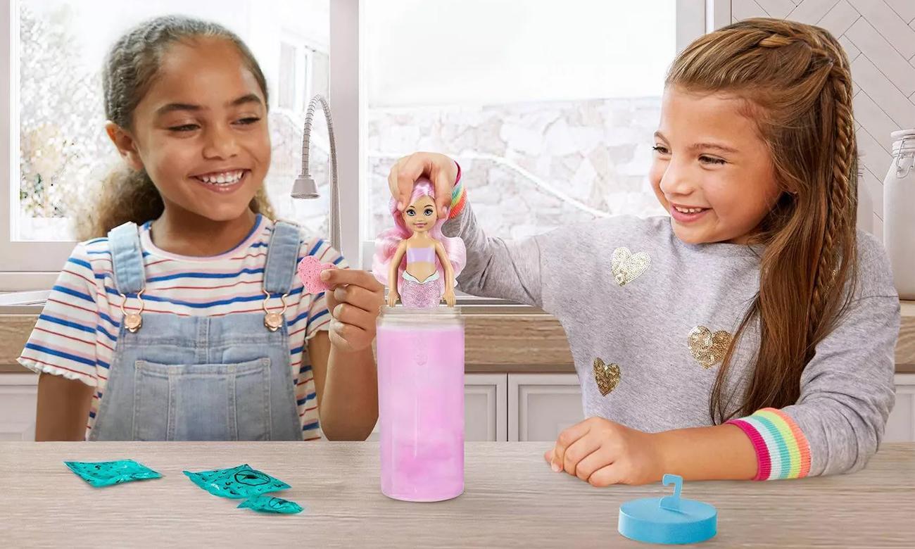 Mattel Barbie Color Reveal Kolorowa niespodzianka Chelsea Syrenka