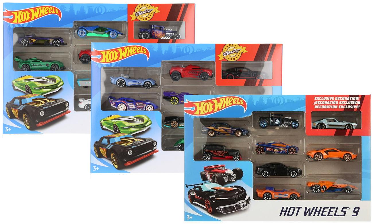 Mattel Hot Wheels Zestaw samochodzików 9-cio pak