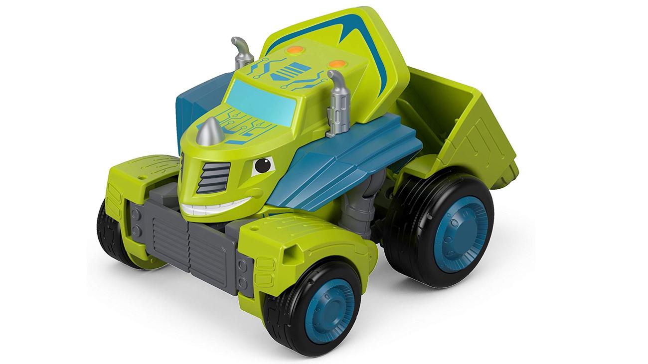 Przemiana z pojazdu w robota Mattel Zeg zielony