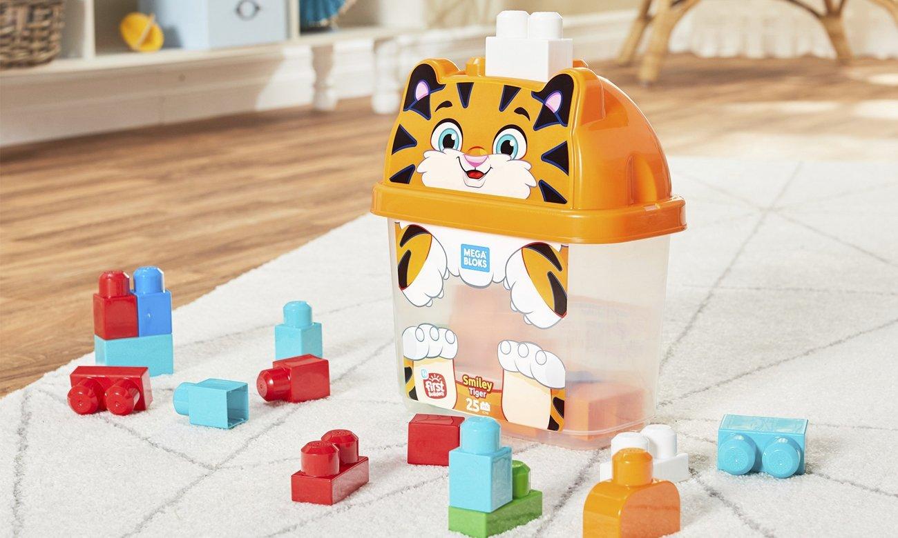 Mega Bloks Pojemnik z klockami Tygrysek