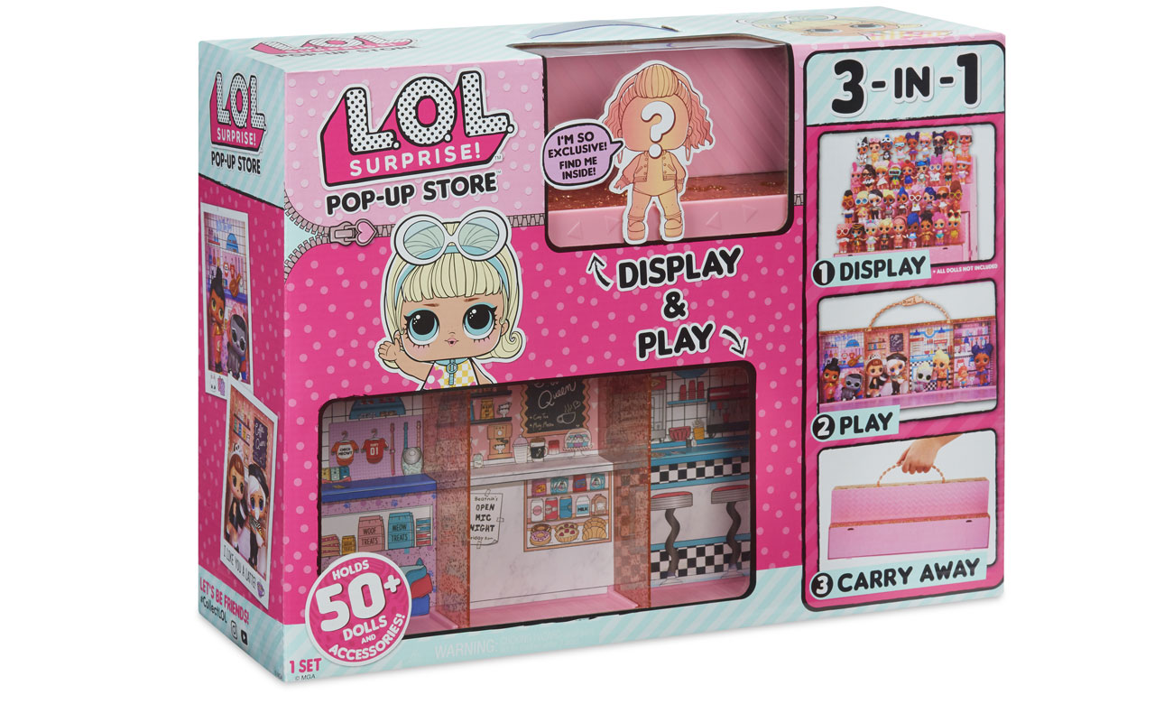 L.O.L. Surprise zestaw 3 w 1 walizka domek podest