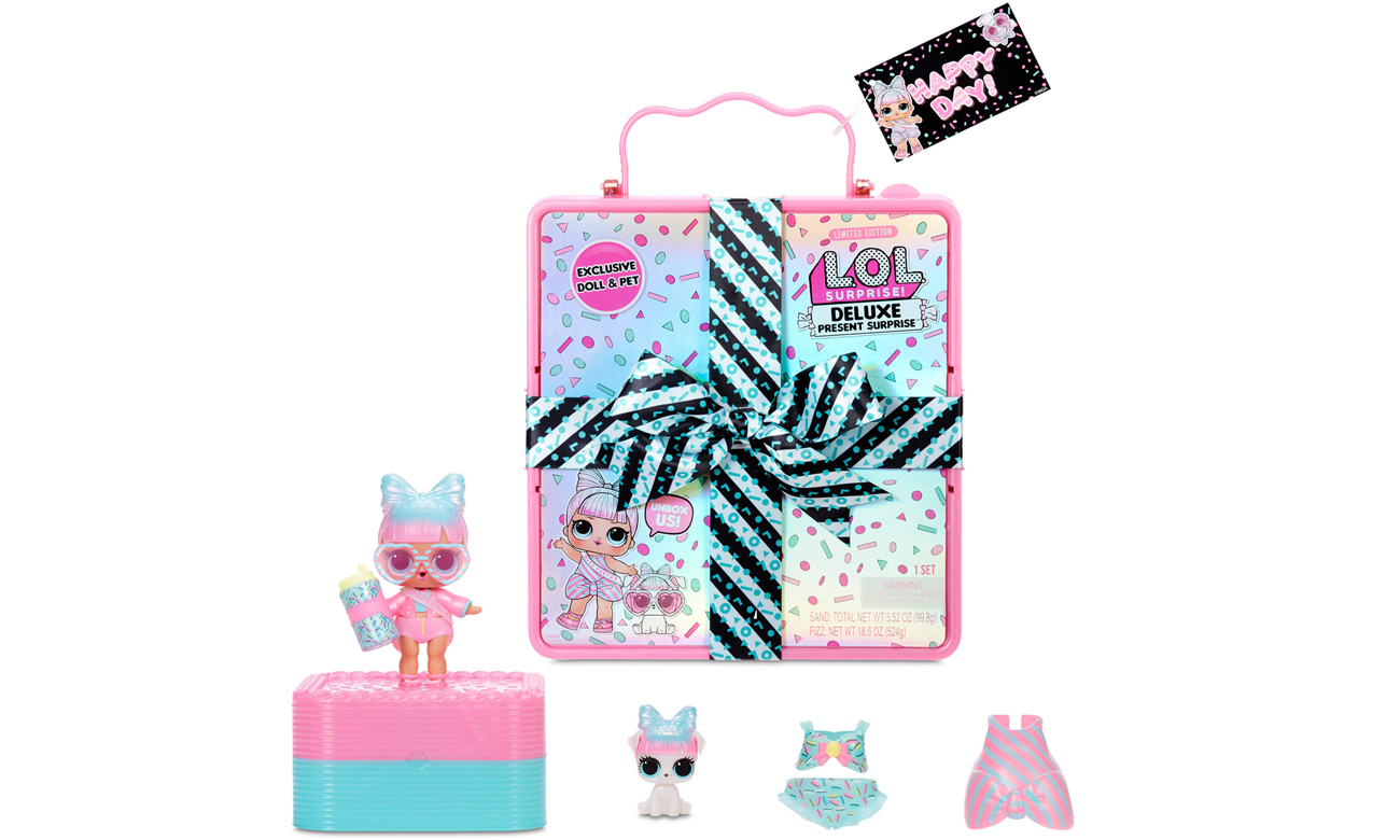 MGA L.O.L. Surprise! Deluxe Present Surprise-Pink