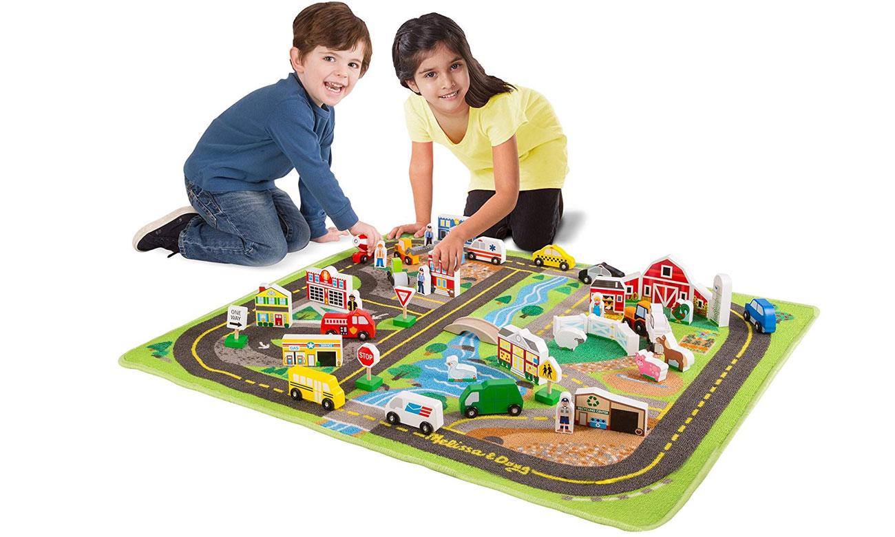 Mata Melissa & Doug Deluxe Road Rug Play Set 15195