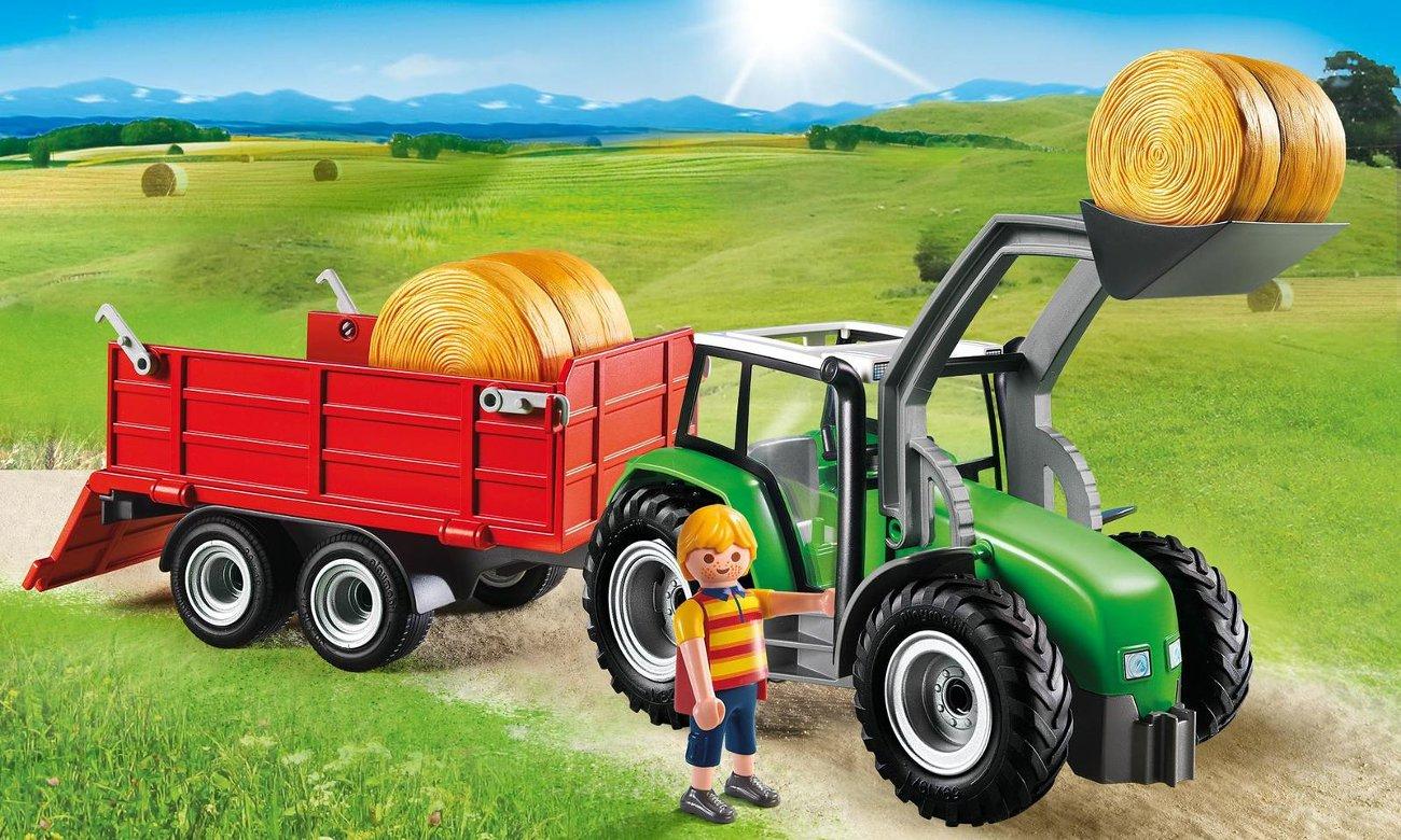 PLAYMOBIL Duży traktor z przyczepą