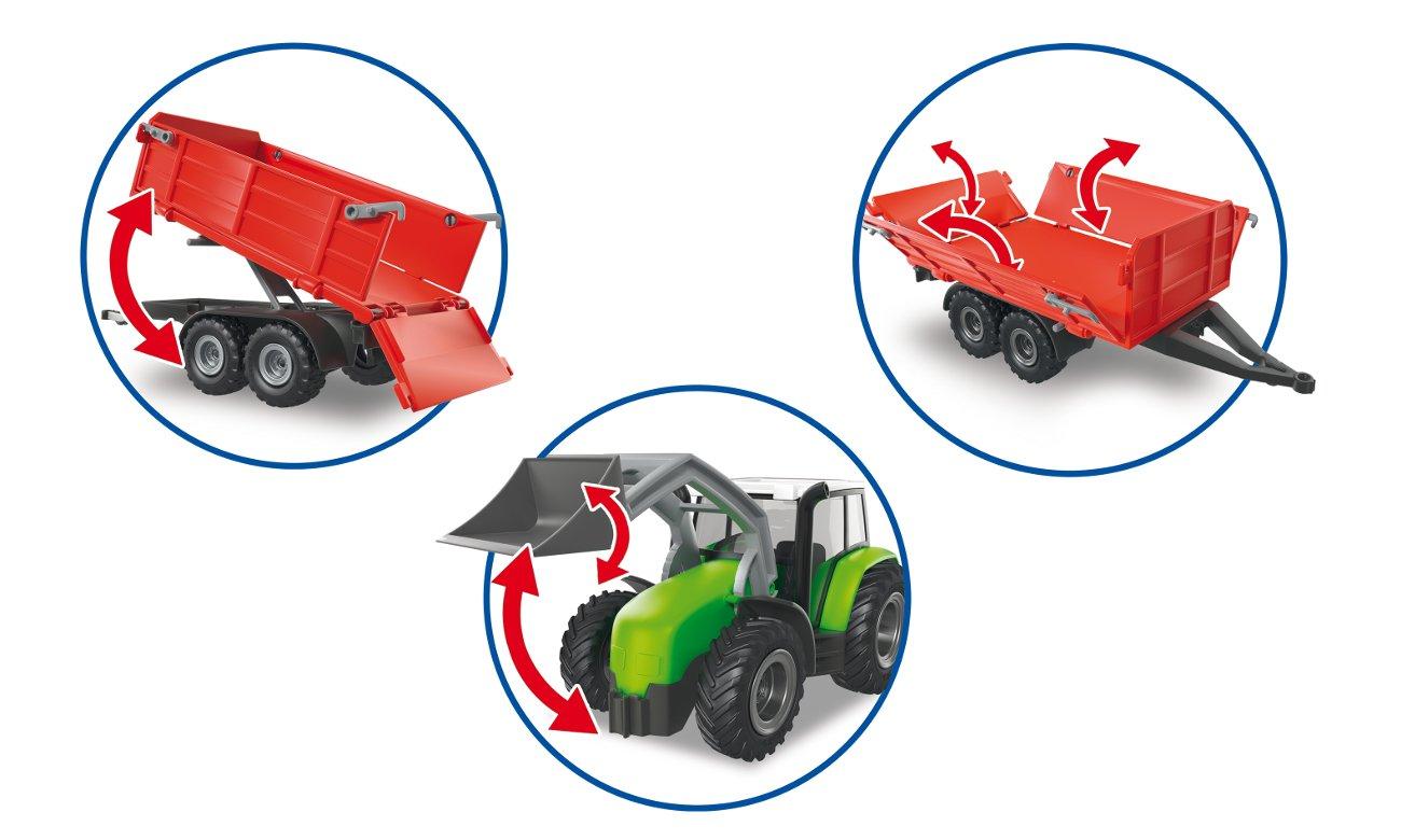 Duży traktor z przyczepą 6130