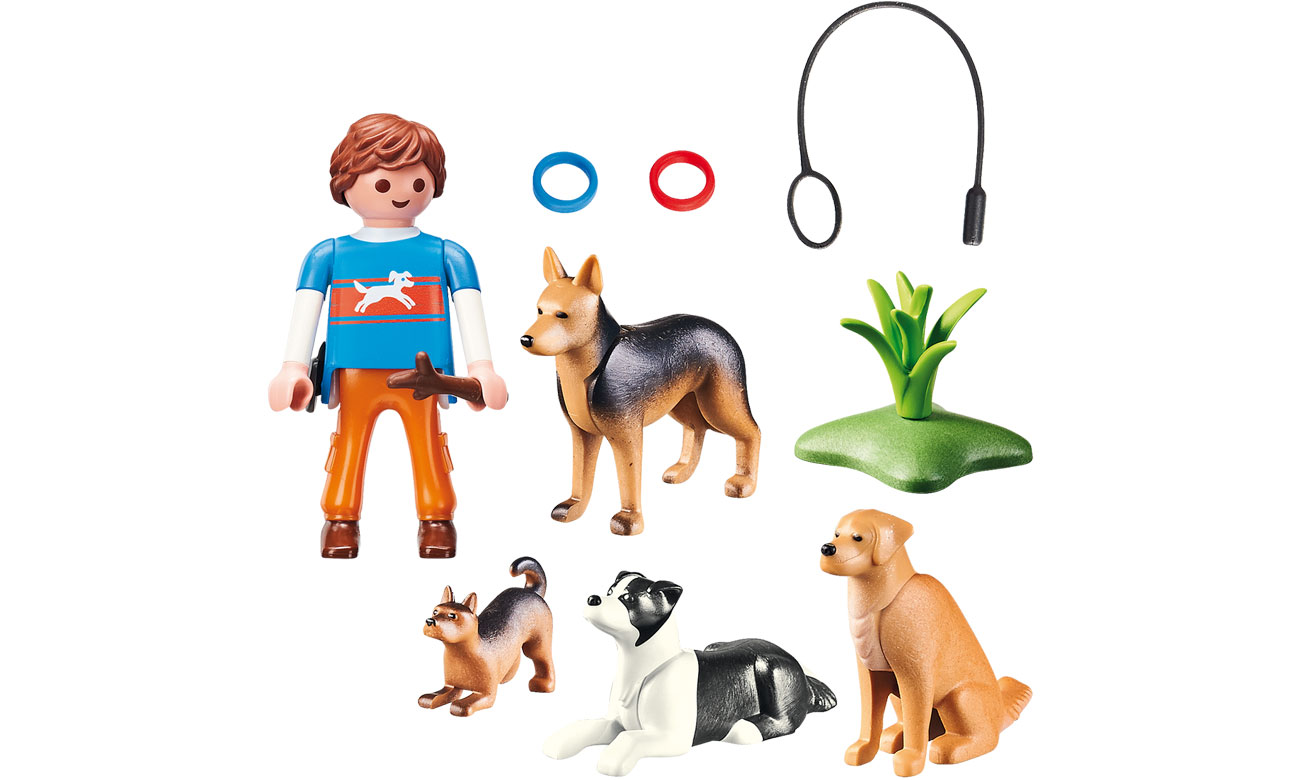 Zawartosć zestawu PLAYMOBIL® Trener psów