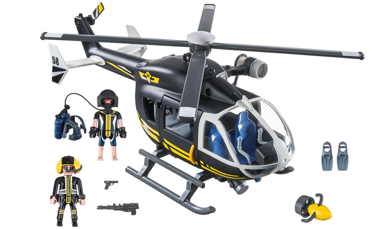 Zawartosć zestawu PLAYMOBIL® Helikopter jednostki specjalnej
