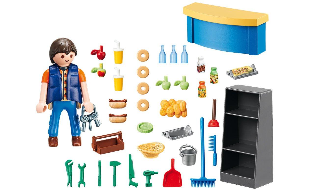 PLAYMOBIL® Kiosk Woźny w sklepiku 9457