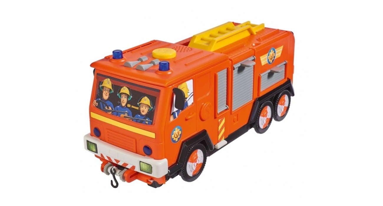 Wóz strażacki z dźwiękiem Simba Strażak Sam Jupiter 2w1