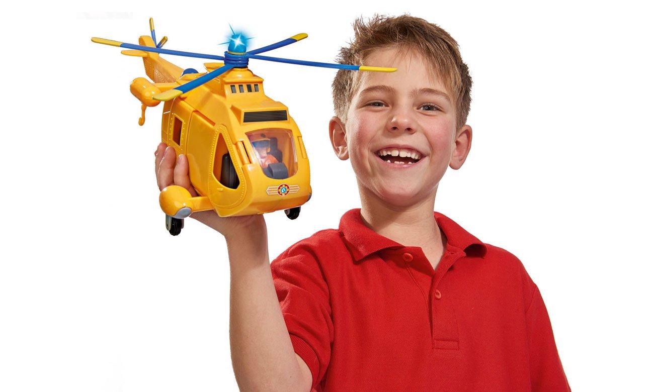 simba figurka strażak sam z helikopterem