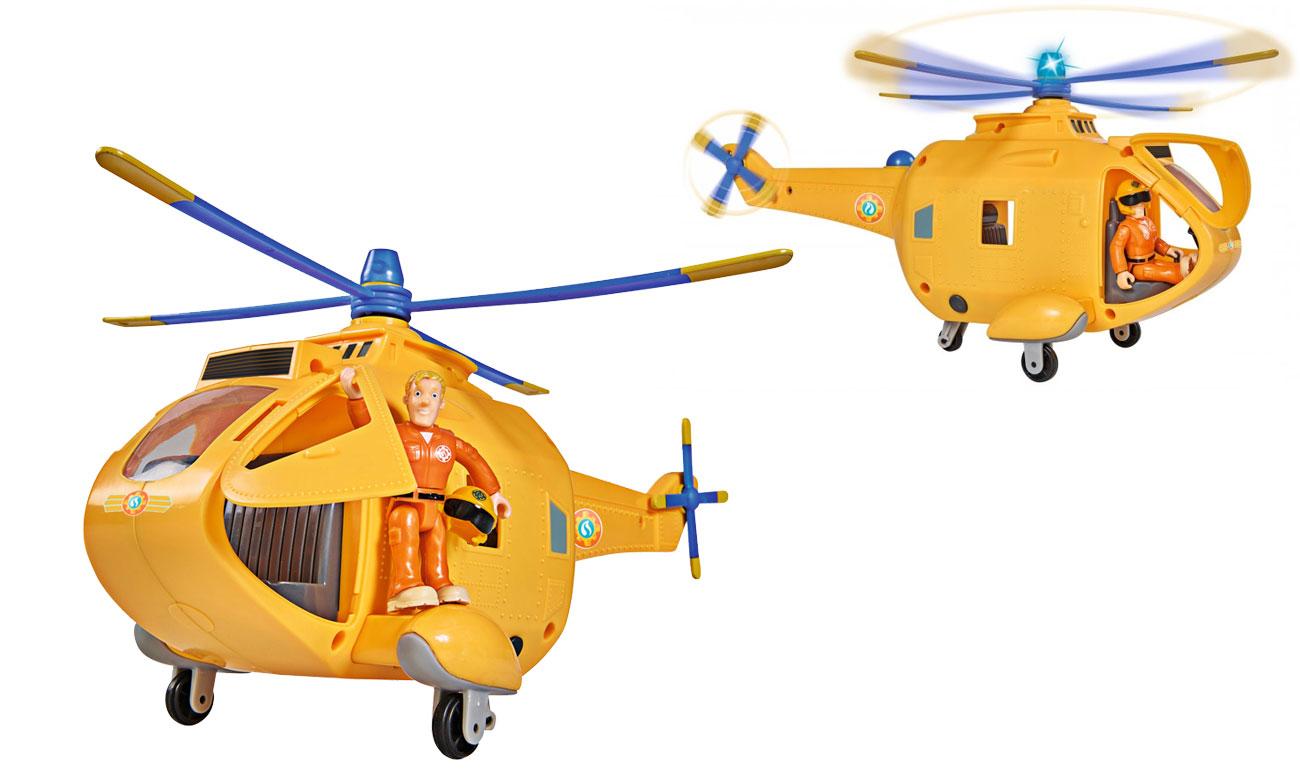 Strażak Sam Helikopter Wallaby II z figurką Światło Dźwięk
