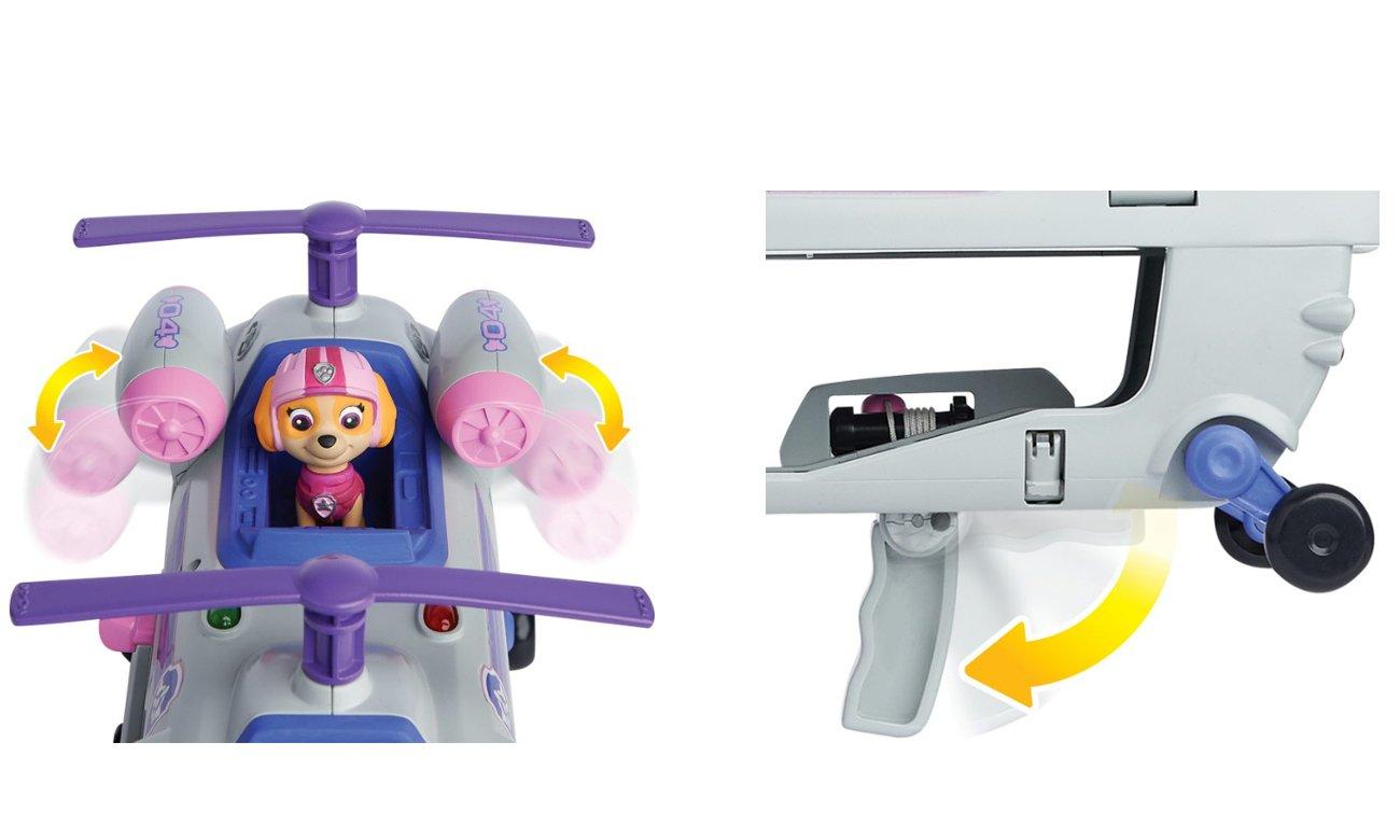 psi patrol helikopter z figurkami