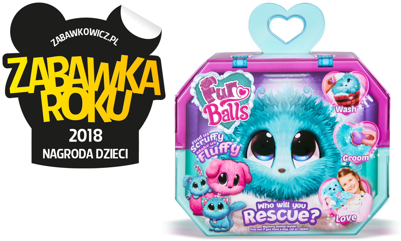 TM Toys Fur Balls Zwierzątko niespodzianka różowy