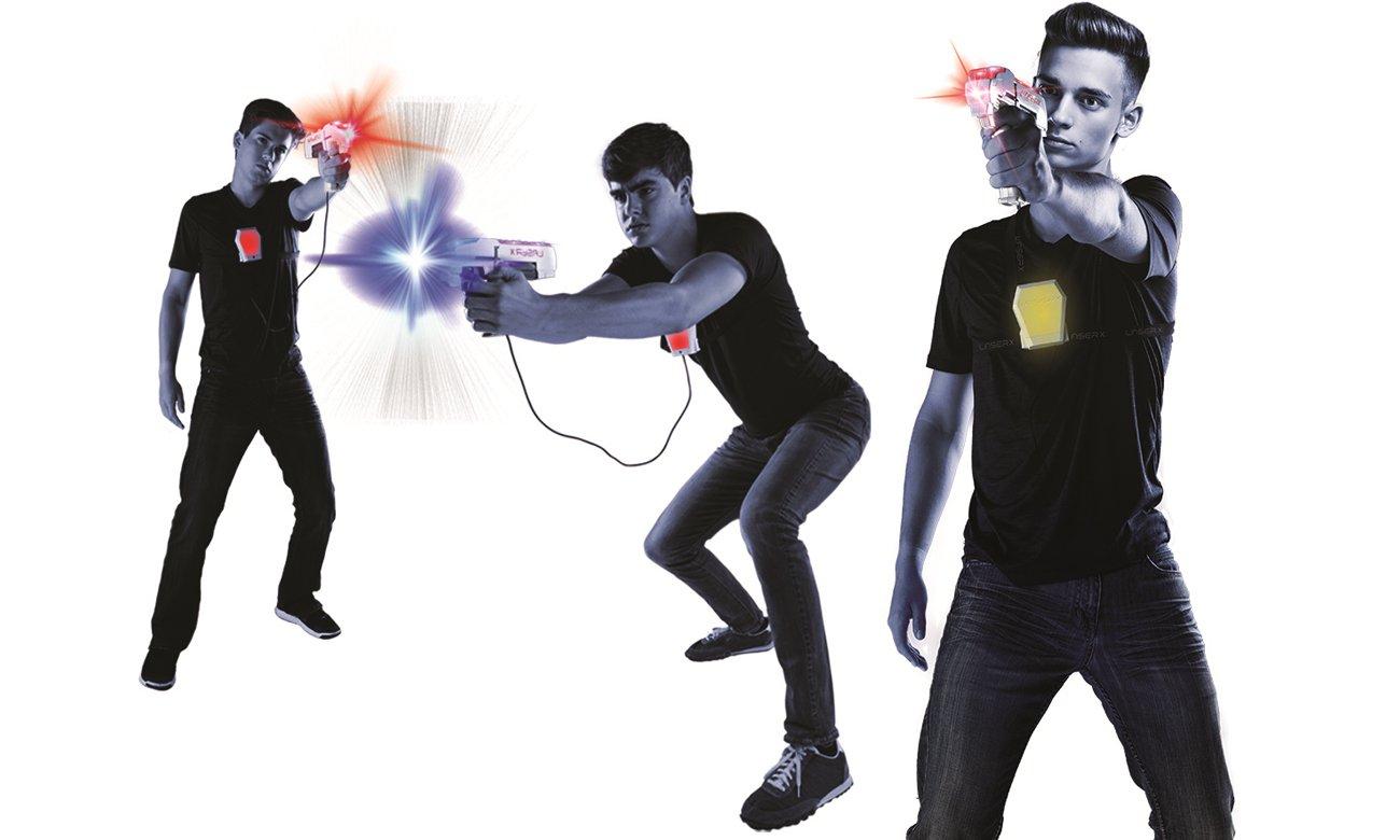 zestaw z pistoletami laserowymi